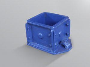 cetakan kubus beton biru